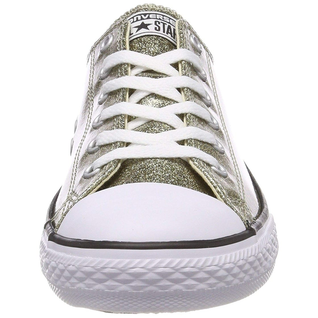 104a4f280fc7 Shop Converse Chuck Taylor All Star Glitter Ox Gold Synthetic Youth  Trainers - Free Shipping On Orders Over  45 - Overstock - 27674663