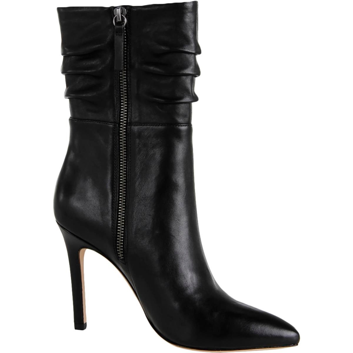 6480cd32d23 Shop Halston Heritage Womens Heather Mid-Calf Boots Leather Pointed Toe -  On Sale - Free Shipping Today - Overstock - 18394003