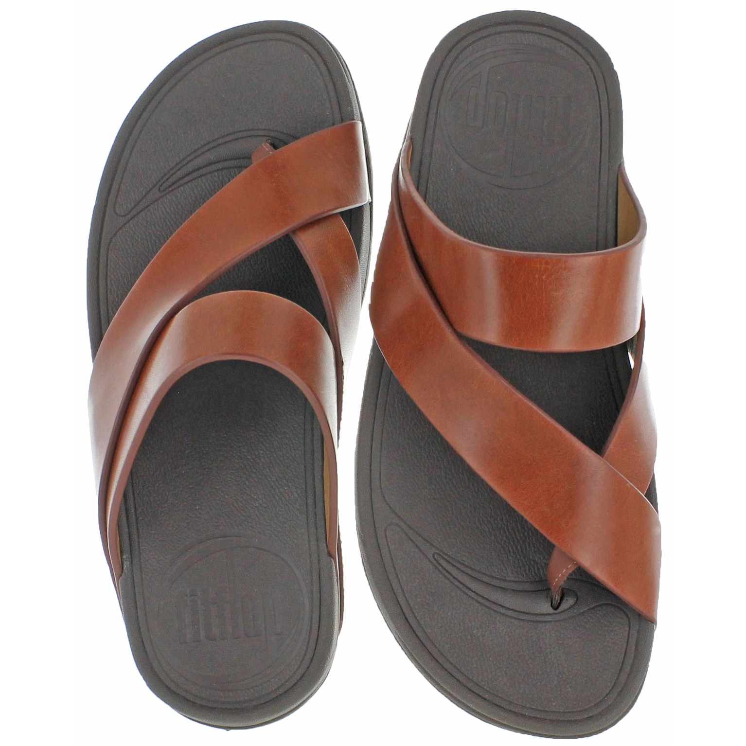 227eef8c518938 Shop FitFlop Sling Men s Criss Cross Strap Slide Sandals - Free Shipping On  Orders Over  45 - Overstock - 20636407