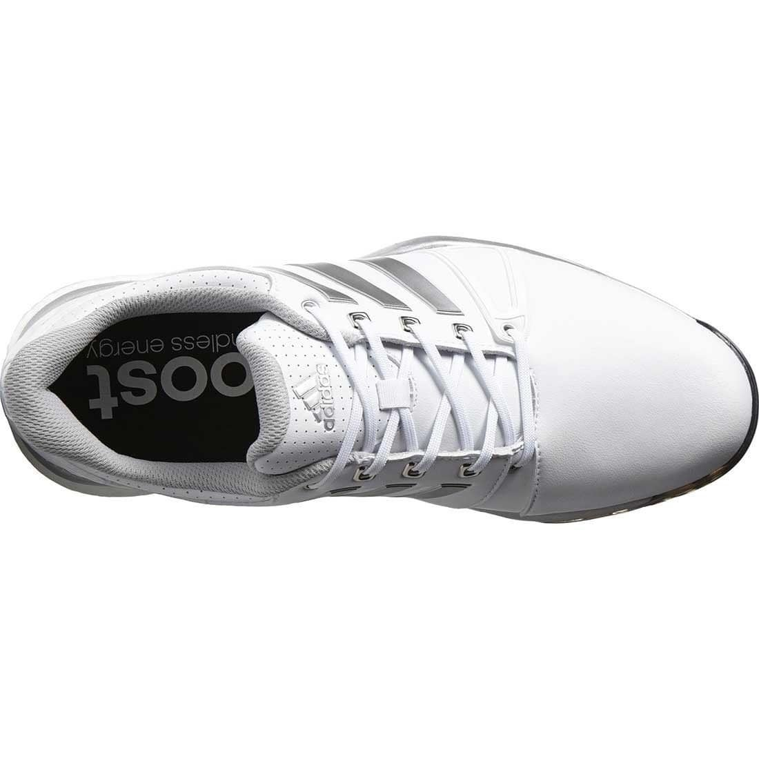 Shop Adidas Men s Adipower Boost 2 White Silver Metallic Core Black Golf  Shoes Q44659   F33366 - Free Shipping Today - Overstock - 18272307 e04875fc3