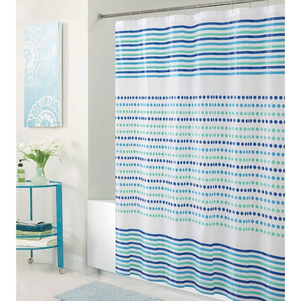 Shop Bath Bliss Romford PEVA Shower Curtain, Blue-Green, 70x72 ...