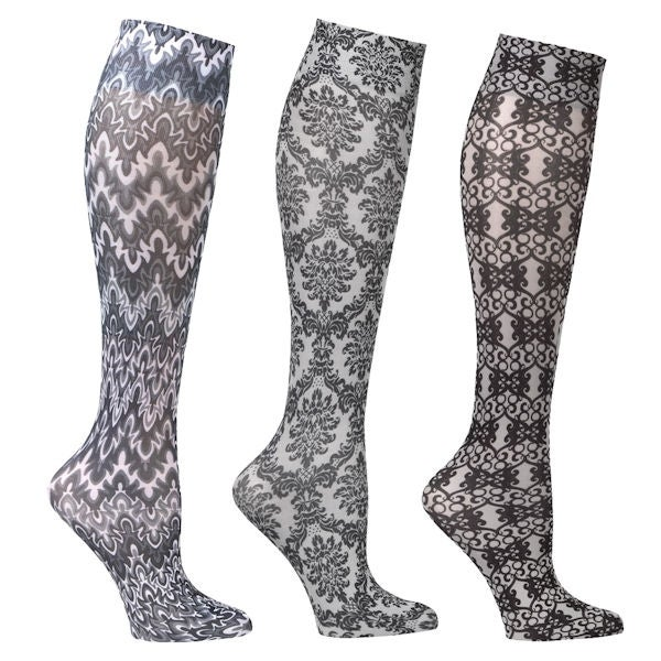 2f932bd5c Shop Women s Moderate Compression Wide Calf Knee High Support Socks - 3 pair  - On Sale - Free Shipping On Orders Over  45 - Overstock - 15929261