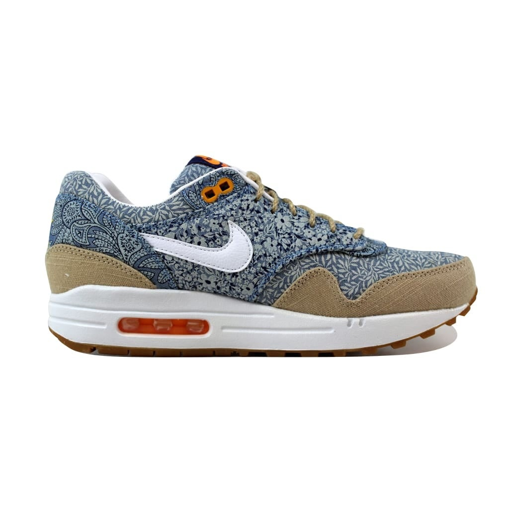 on sale cb425 aa466 Shop Nike Women s Air Max 1 Liberty QS Blue Recall White-Linen-Atomic Mango  540855-400 - Free Shipping Today - Overstock - 21141257