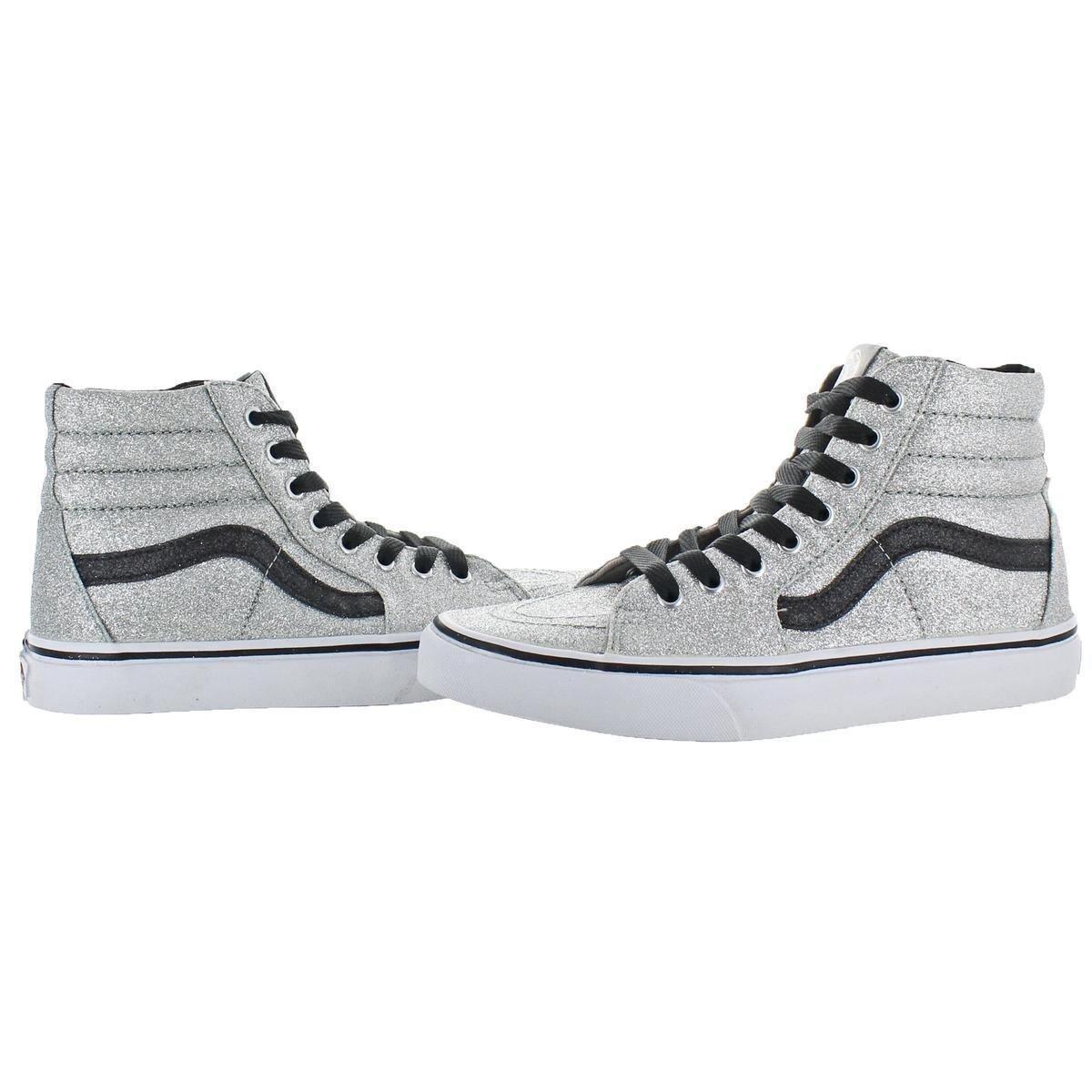 32e3a08b79 Vans Womens Sk8-Hi(Glitter) Skate Shoes Fashion High Top - 9 medium (b