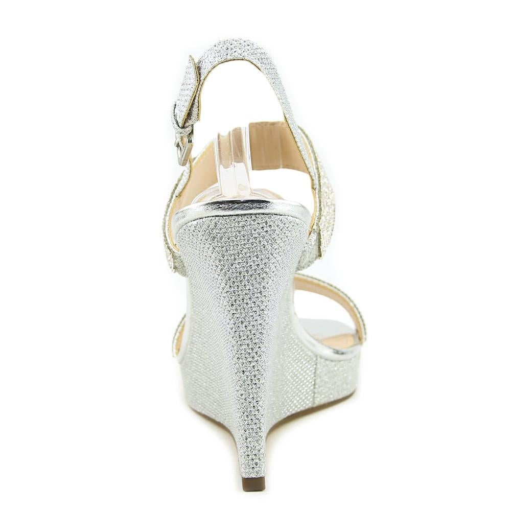 bdc228029f8a Shop Nina Adila Women Open Toe Synthetic Silver Wedge Sandal - Free  Shipping Today - Overstock - 19668774