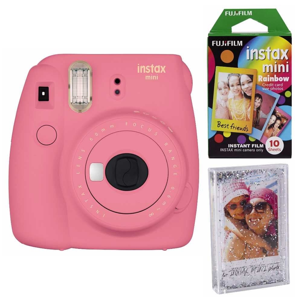 Shop Fujifilm Instax Mini 9 Instant Camera Pink Wrainbow Film