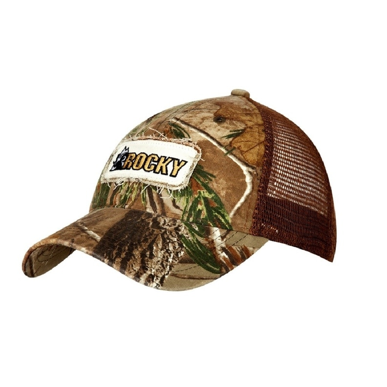 50f44da6863bf Shop Rocky Western Hat Mens Trucker Cap White Logo OX Realtree Xtra - Free  Shipping On Orders Over  45 - Overstock - 16652080
