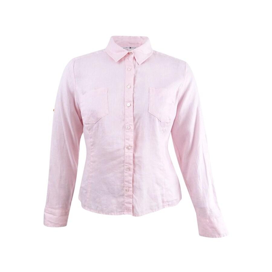 704250b9 Tommy Hilfiger White Tab Collar Dress Shirt | Azərbaycan Dillər ...