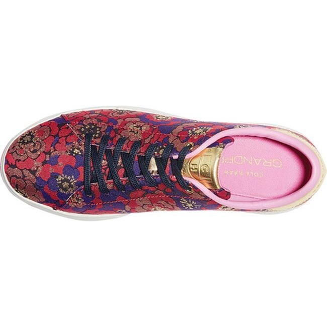 fd8a8d6fa93 Shop Cole Haan Women's GrandPro Tennis Sneaker Brocade/Metallic Gold Leather /Optic White - Free Shipping Today - Overstock - 24322473
