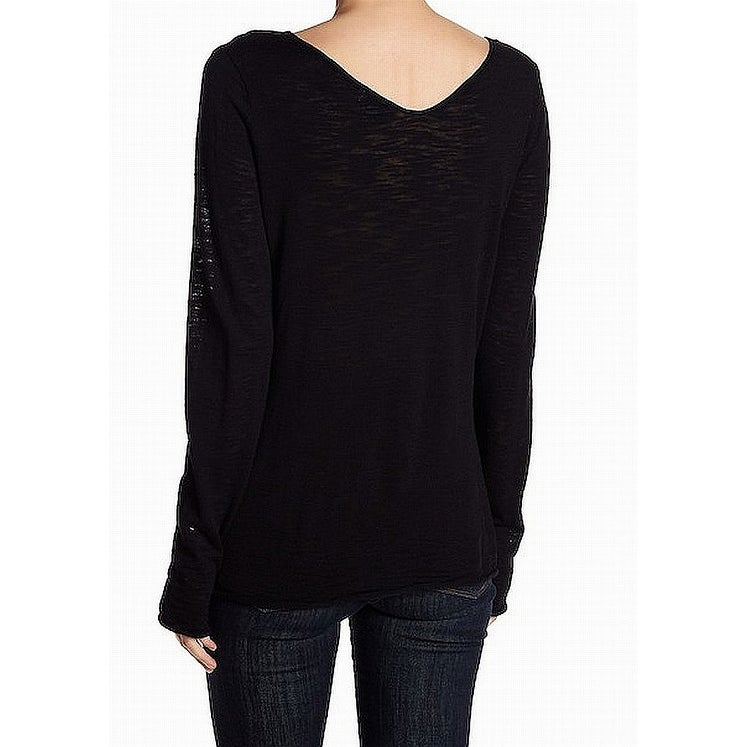 f19b730502d Shop Susina Black Women s Size Small S V-Neck Lightweight Sweater - Free  Shipping On Orders Over  45 - Overstock - 22515171