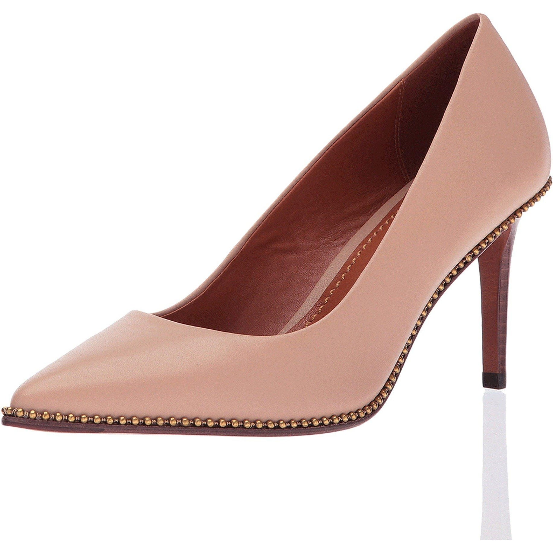 416a671571b8 Shop Coach Womens Beadchain pump Leather Pointed Toe Classic Pumps - Free  Shipping Today - Overstock - 23125758