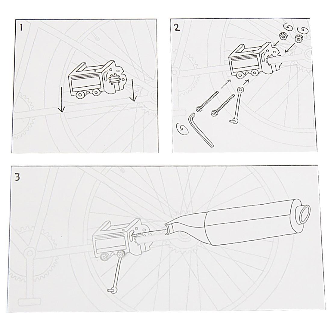Universal DIY Motorcycle Sound Exhaust Pipe Kit for Mountain Bike Bicycle