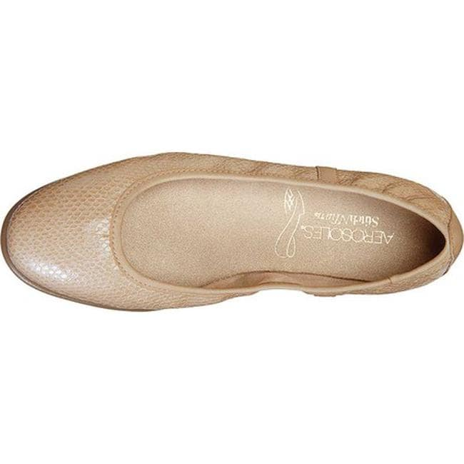 b368633e516 Shop Aerosoles Women s Better Yet Ballet Flat Light Tan Snake Leather -  Free Shipping On Orders Over  45 - Overstock - 21691719