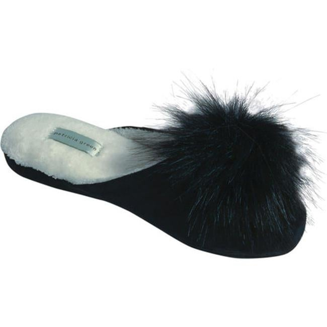 b5419f6ee Shop Patricia Green Women s Pretty Pouf Slipper Black Microsuede - On Sale  - Free Shipping Today - Overstock - 17228966