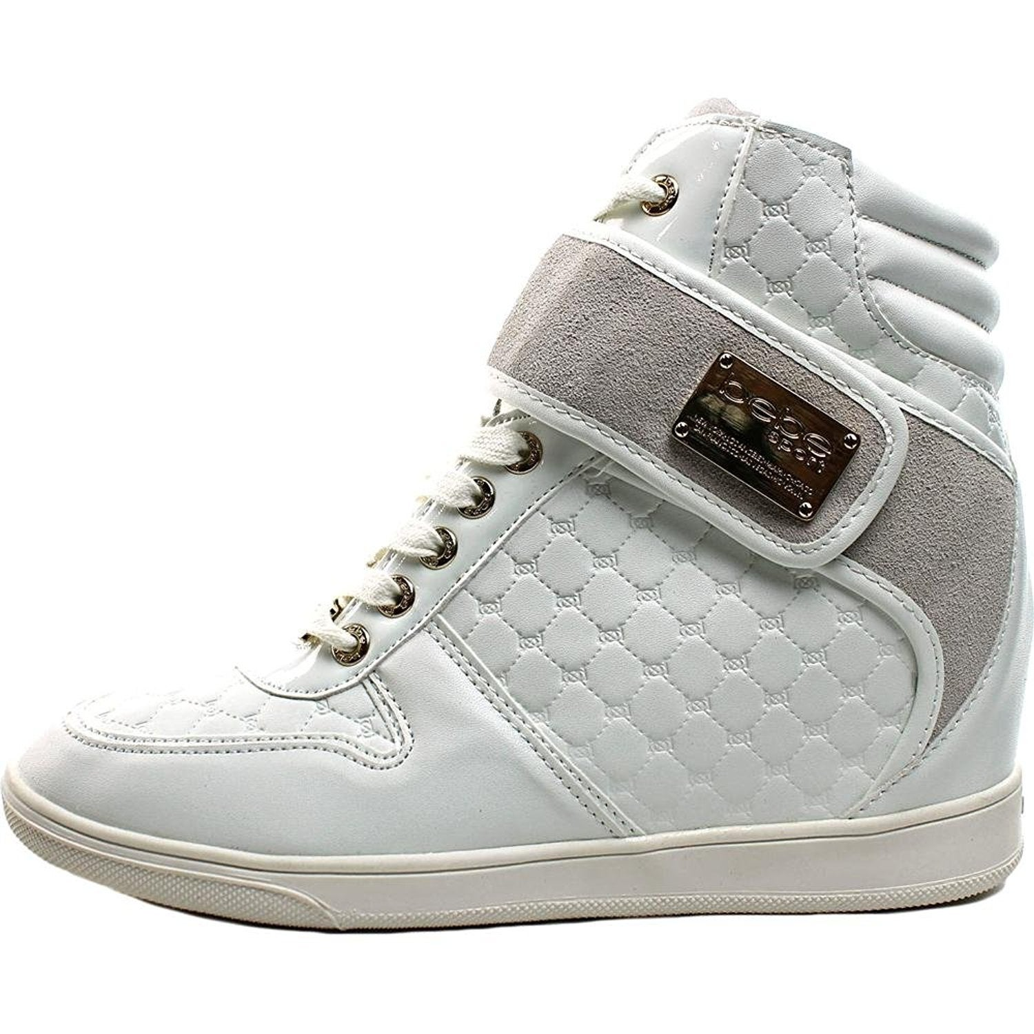 abaf898ac459 Shop Bebe Womens Colby Hight Top Lace Up Fashion Sneakers - Free Shipping  On Orders Over  45 - Overstock - 16687069