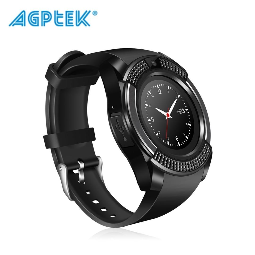 AGPtek V8 Smart Watch, Bluetooth Smartwatch Touch Screen Wrist Watch Camera  w/ SIM Card Slot