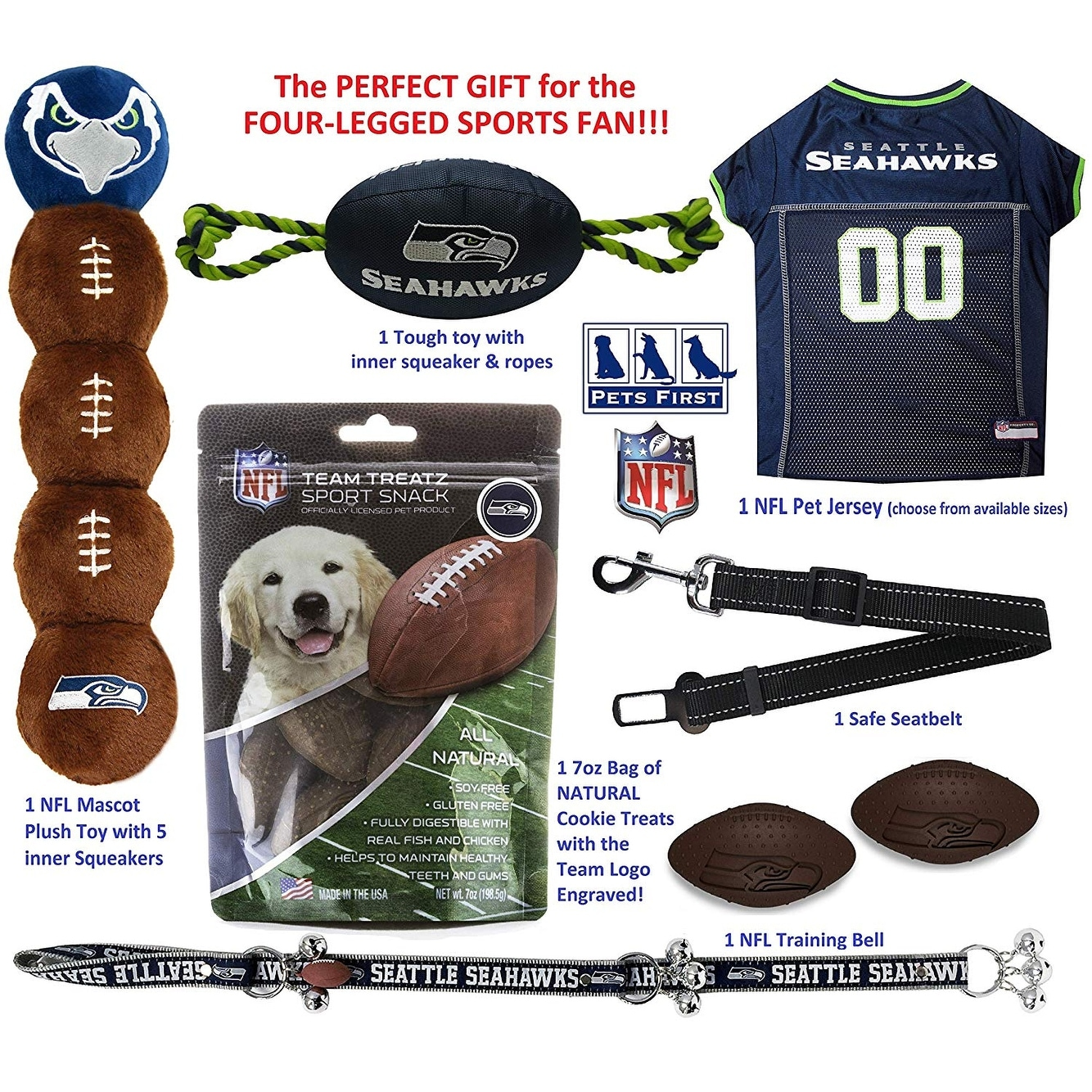 1e1bf65a3d9 Shop NFL DOG GIFT BOX - Licensed Starter Pet Kit for all FOOTBALL FANS -  Free Shipping Today - Overstock - 22893891