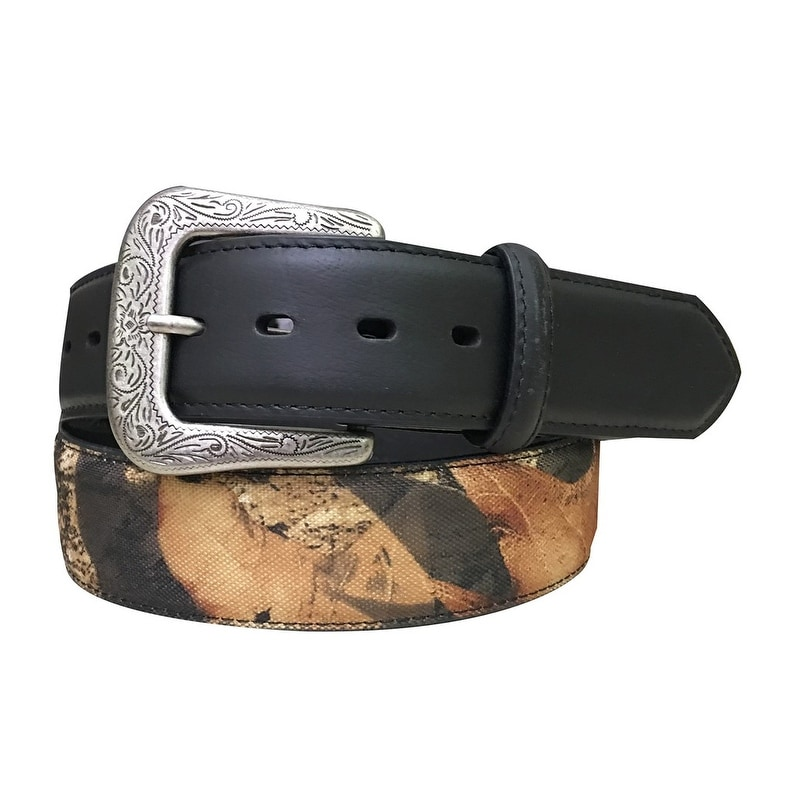 1d7690c32e5e G-BAR-D Western Belt Mens Western Crazy Horse Black Camo