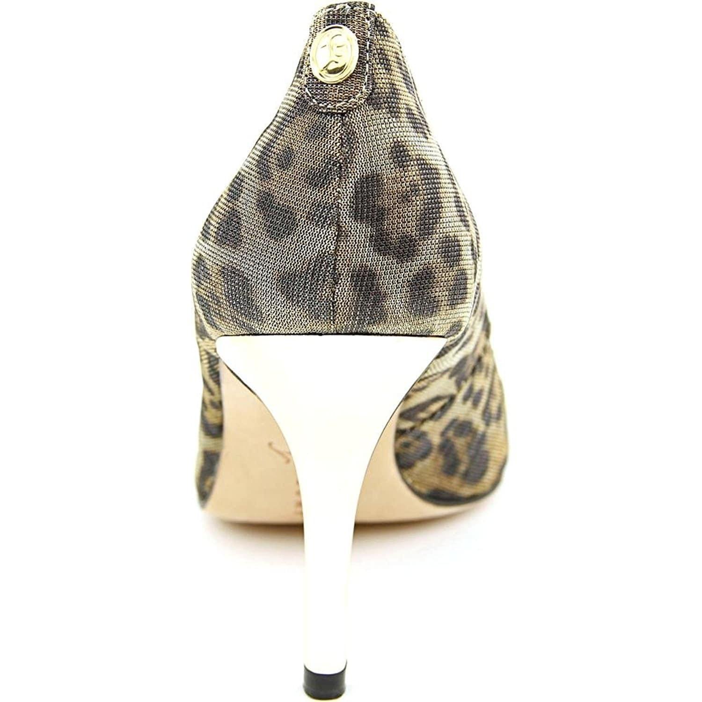 Ivanka Trump Womens CLEO Leather Peep Toe Classic Pumps Free