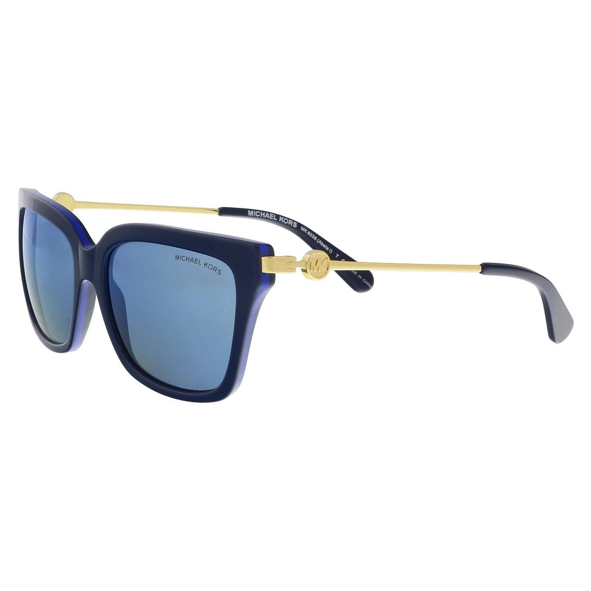 de4e837750 Michael Kors MK6038 313455 ABELA I Navy Cobalt Square Sunglasses - 56-17-140