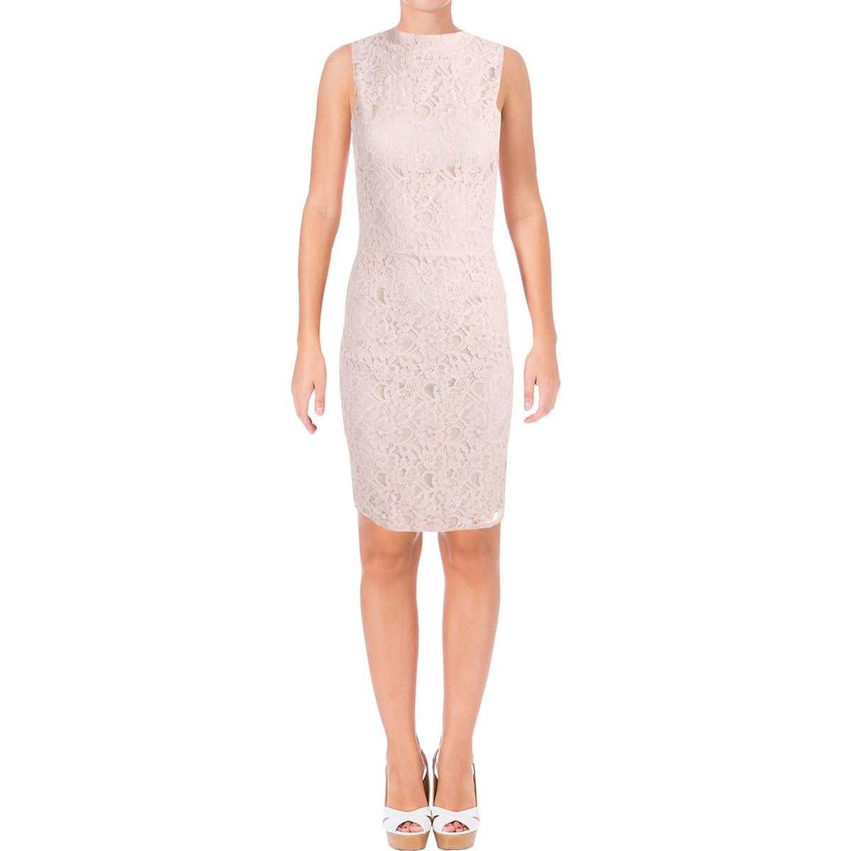 b367e6942d1 Shop Aqua Womens Bodycon Dress Lace Mock Neck - Free Shipping On Orders  Over  45 - Overstock.com - 17338339