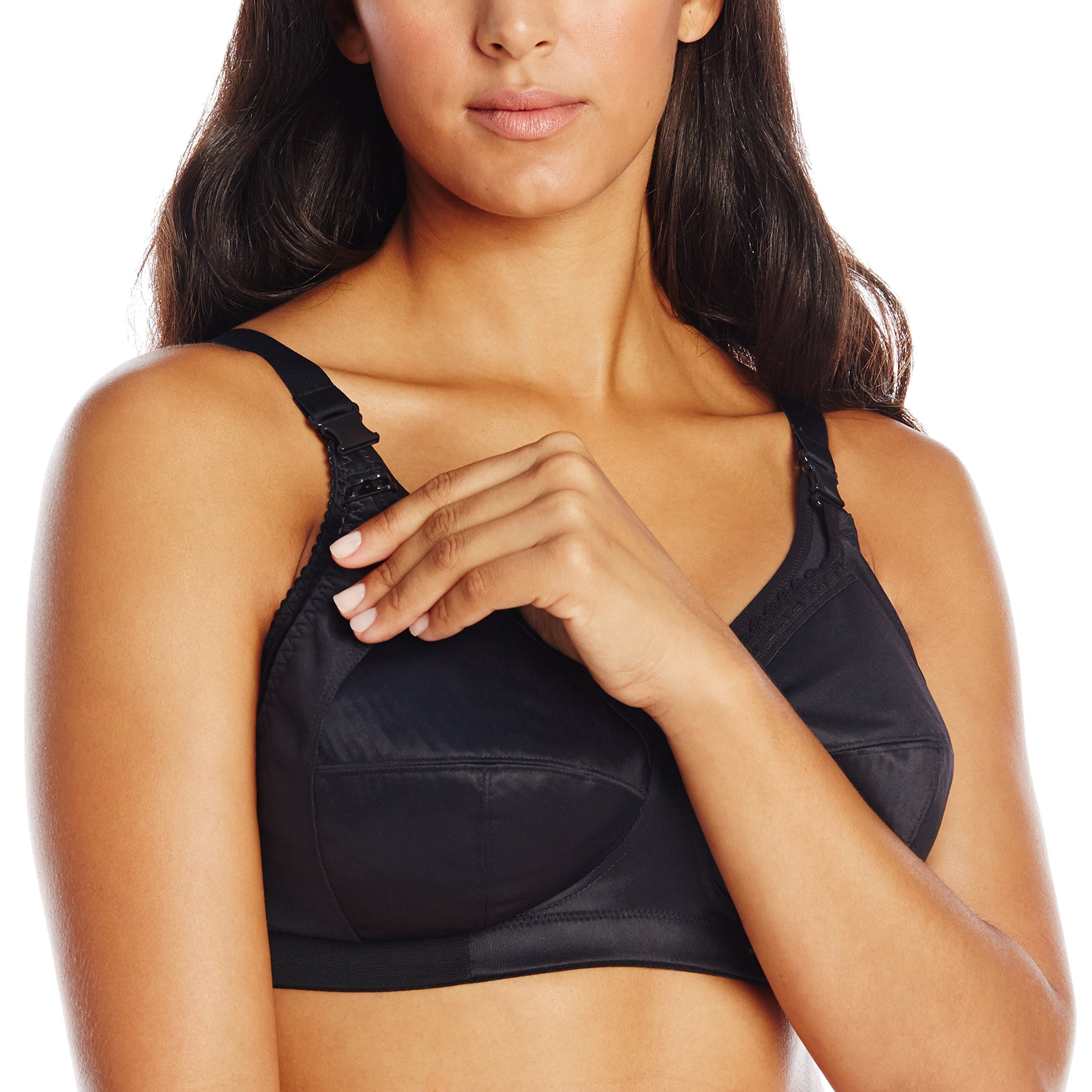 91c3ea75e87b8 Shop Elomi Black Women's Size 42I Wireless Solid Nursing Maternity Bras -  Free Shipping On Orders Over $45 - Overstock - 28438743