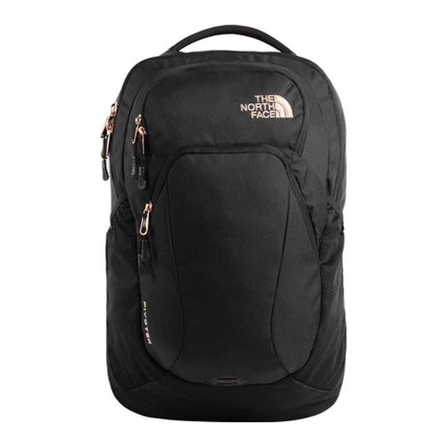 e32df81d9158 The North Face Women s Pivoter Backpack TNF Black Heather Burnt Coral  Metallic - US Women s One Size (Size None)