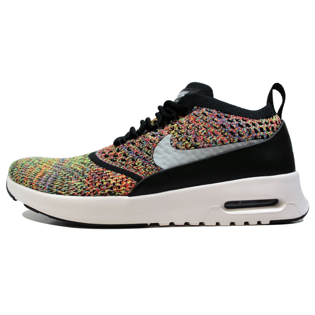 huge selection of 69bd6 a5a2a Shop Nike Air Max Thea Ultra Flyknit Bright Crimson Wolf Grey-Black Rainbox  881175-600 Women s - Free Shipping Today - Overstock - 20131442
