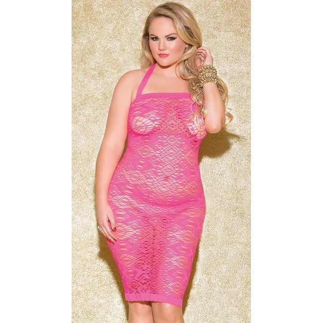 Plus Size Fun Games Hot Pink Chemise, Plus Size Pink Lace Chemise - Hot  Pink - Queen
