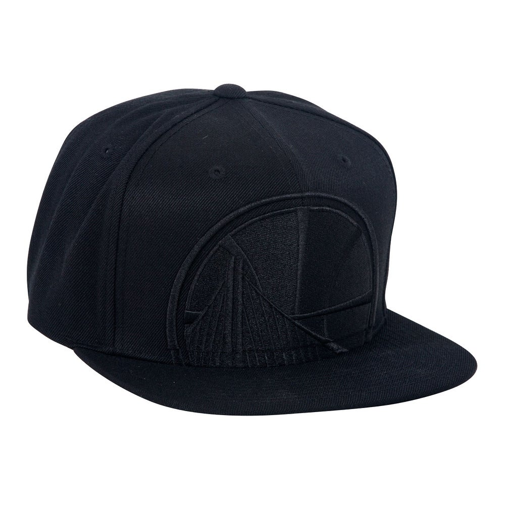 best website 88b5a ef7c3 Shop Mitchell   Ness Cropped XL Logo Snapback - Golden State Warriors -  Black - Free Shipping On Orders Over  45 - Overstock - 16948660