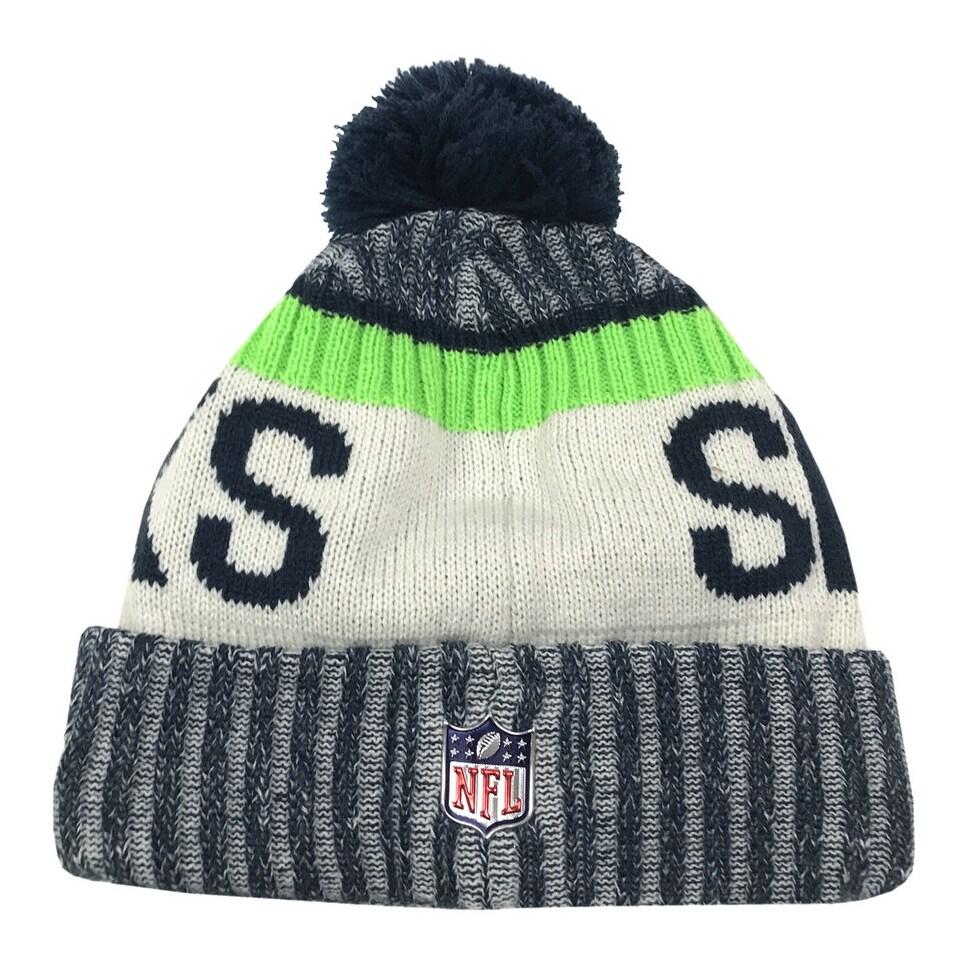 b678ba96457e0 ... get shop new era seattle seahawks knit beanie cap hat nfl 2017 on field  sideline 11460380