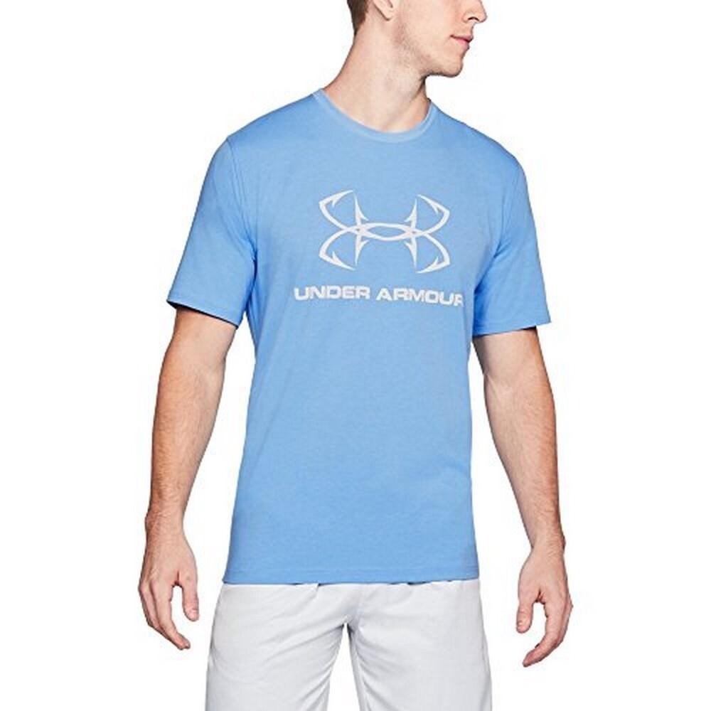 Under Armour Fish Hook Sportstyle Short Sleeve Tee Shirt Gray 1331197-094