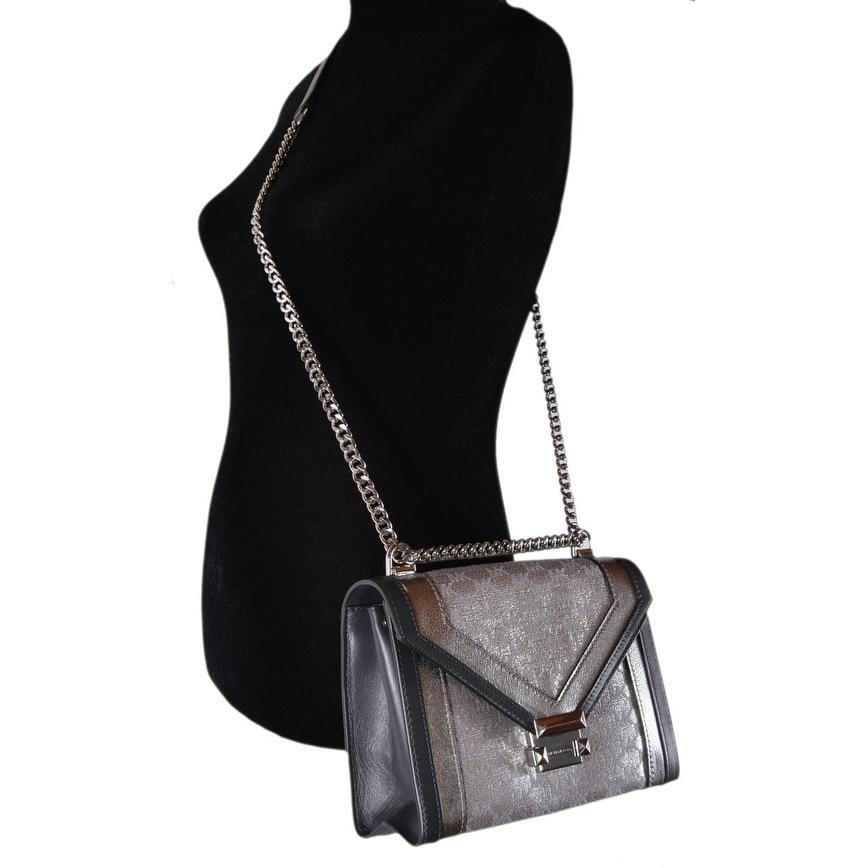 90894f8ad7c87 Shop Michael Kors Whitney Large Metallic Logo Jacquard Convertible Shoulder  Bag - On Sale - Free Shipping Today - Overstock - 26444405