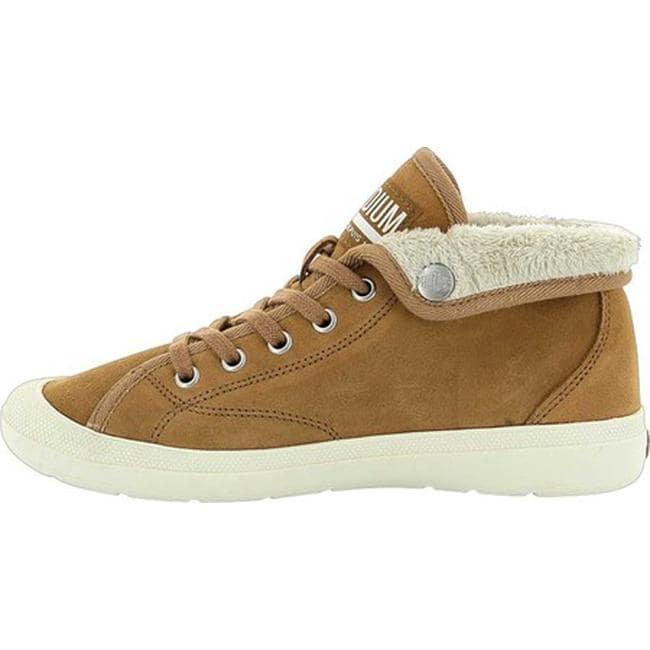 6b4b41ab461 Palladium Women's Aventure Warm SUE Sneaker Brown Sugar/Beige Suede