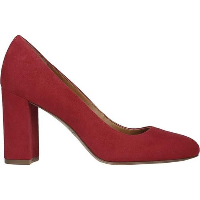 447d8f0f2c87 Shop Sarto by Franco Sarto Women s Aziza Pump Cherry Kid Suede - On Sale -  Free Shipping Today - Overstock - 25753193