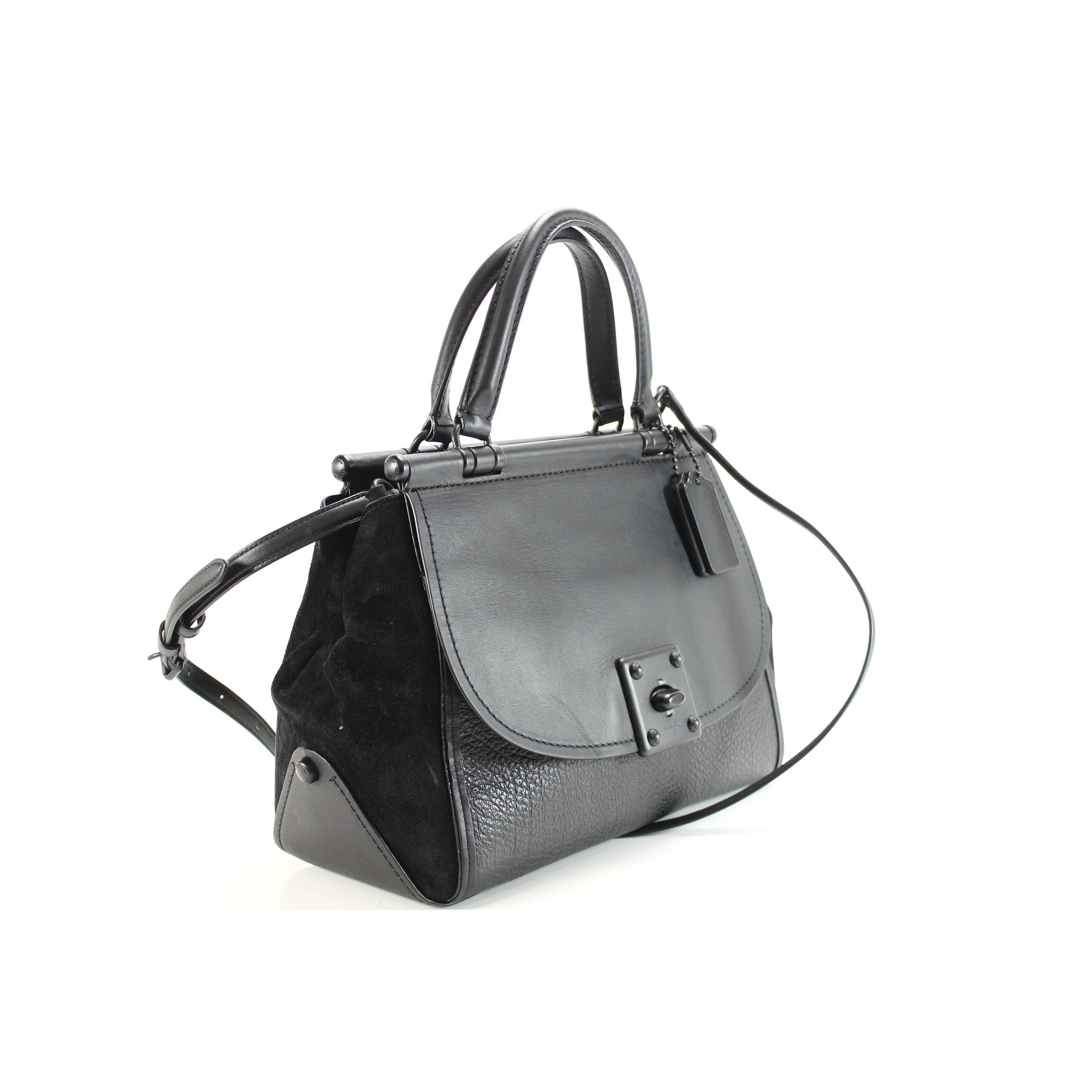 935562164 ... sale shop coach new matte black drifter carryall satchel leather  handbag purse free shipping today overstock