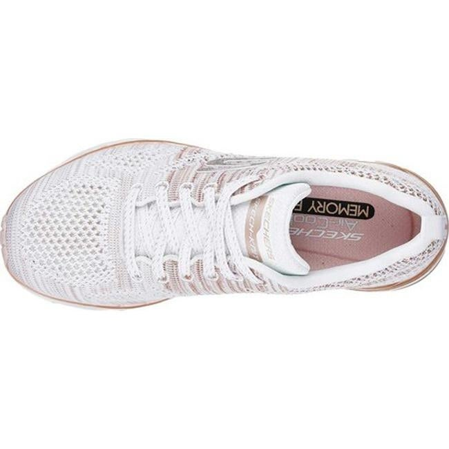 627498d69110 Shop Skechers Women s Skech-Air Infinity Training Shoe Stand White Rose Gold  - Free Shipping Today - Overstock - 19114244