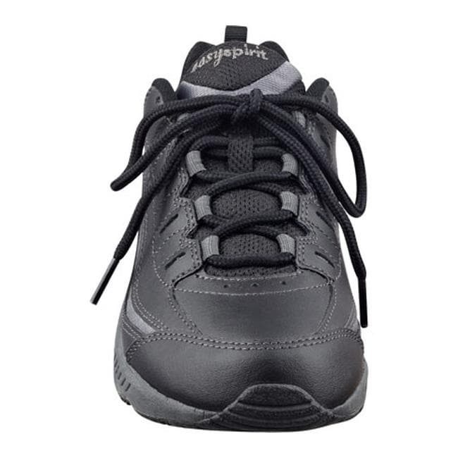 db1117679 Shop Easy Spirit Women s Romy Walking Shoe Black Dark Grey Leather - On  Sale - Free Shipping Today - Overstock - 22822645