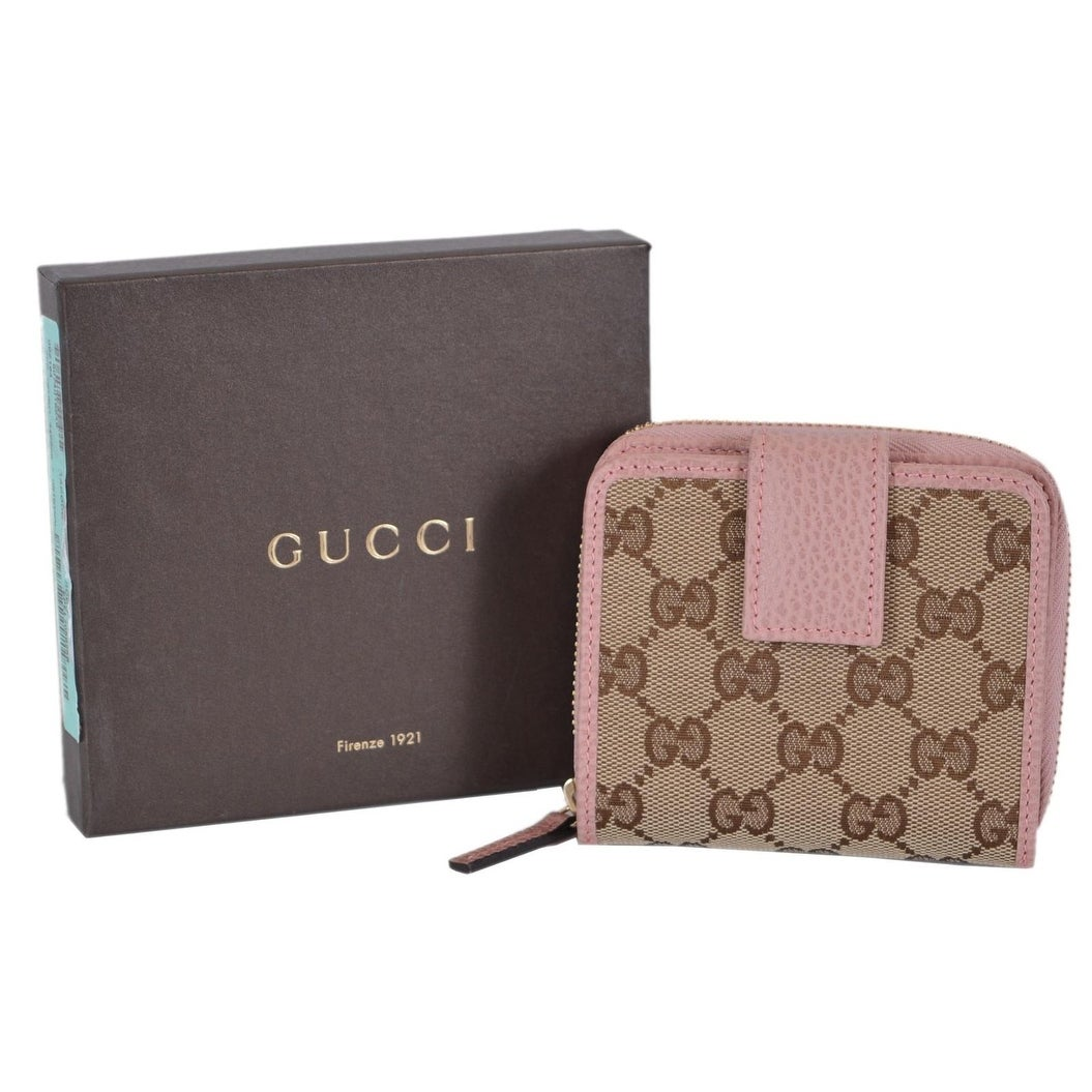 c8dd78e8a686 Shop Gucci Women's 346056 Beige Pink GG Guccissima French Zip Around Wallet  - 4