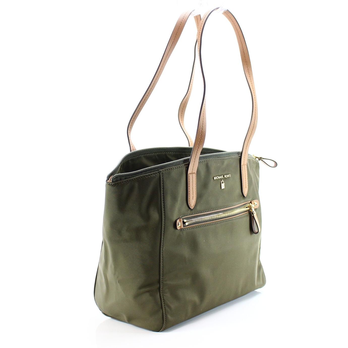 Michael Kors New Kelsey Olive Green Medium Top Zip Tote Handbag Purse Free Shipping Today 19564046