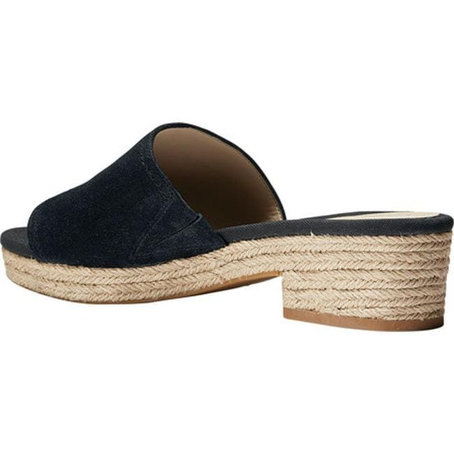 e327ed76063 Shop Cole Haan Women s Giselle Mid Espadrille Slide Black Suede - Free  Shipping On Orders Over  45 - Overstock - 21183032