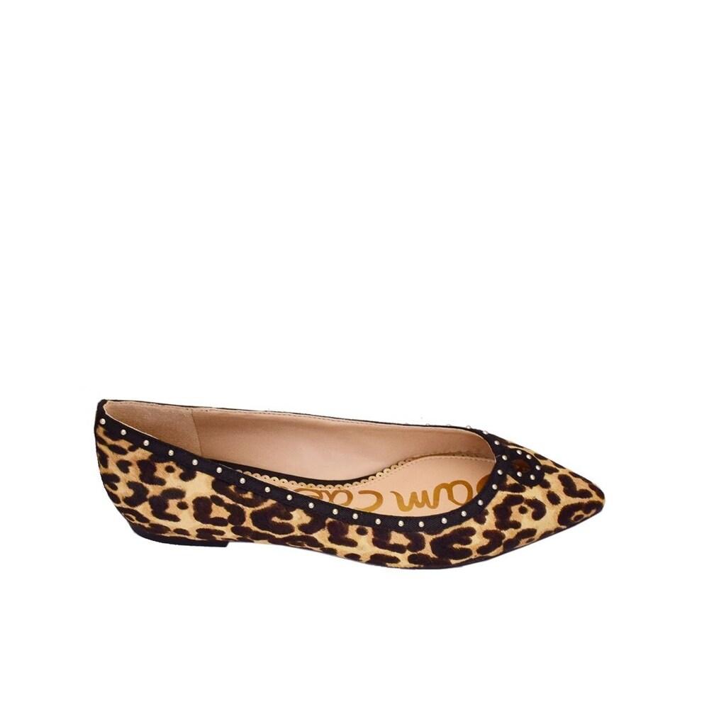 d55b0c4c1ecf71 Shop Sam Edelman Womens Rini Calf Hair Pointed Toe Slide Flats - Free  Shipping Today - Overstock - 25573373