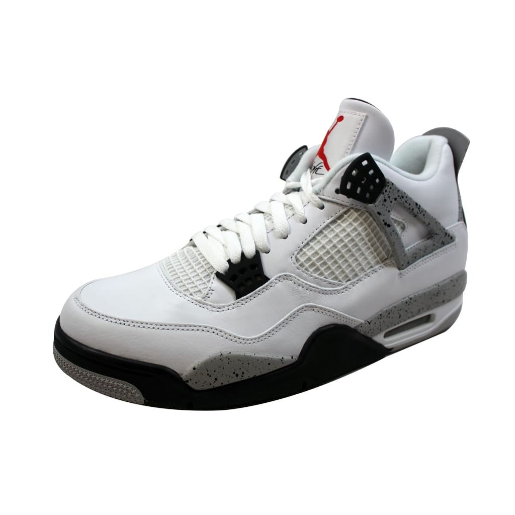 1602cd52aa3d4a Shop Nike Men s Air Jordan IV 4 Retro OG White Fire Red-Black-Tech Grey White  Cement 840606-192 - Free Shipping Today - Overstock - 19507407