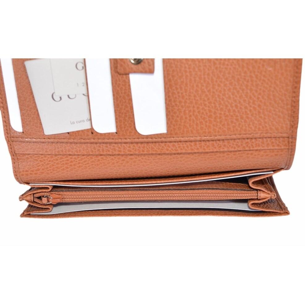 f8b41ef2e10155 Shop Gucci Women's 346058 Saffron Tan Leather Continental Bifold Wallet -  7.5