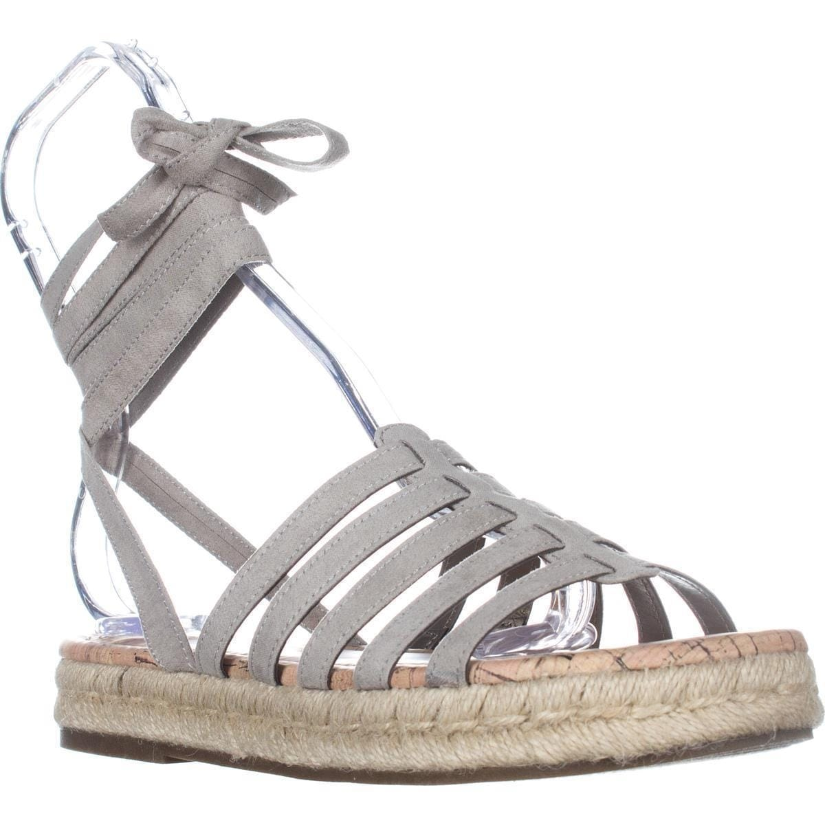 7534e2462f12 Shop Circus Sam Edelman Ariel Tie Up Sandals, Greige - On Sale - Free  Shipping On Orders Over $45 - Overstock - 17979603