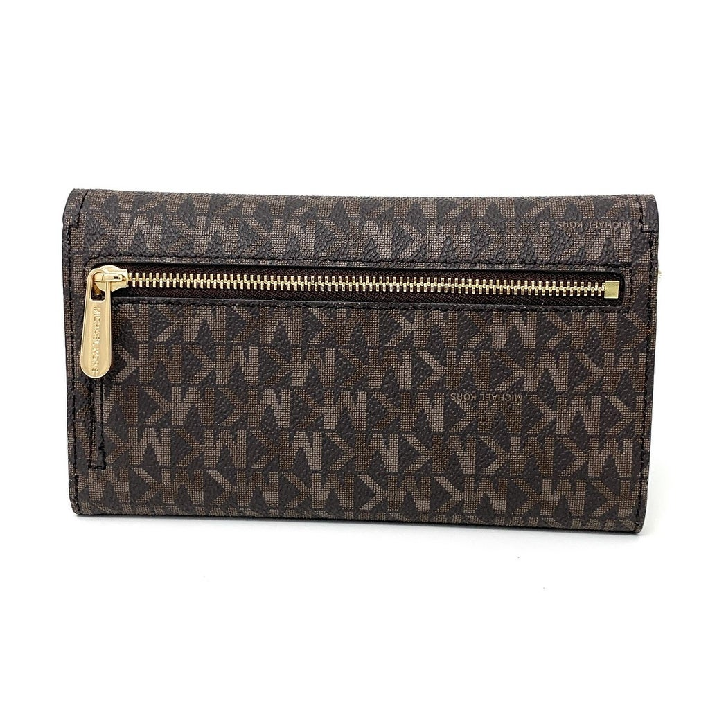 2f2564e3eb48 Michael Kors Cassie Large Trifold Wallet (Brown Marigold) - Brown Marigold