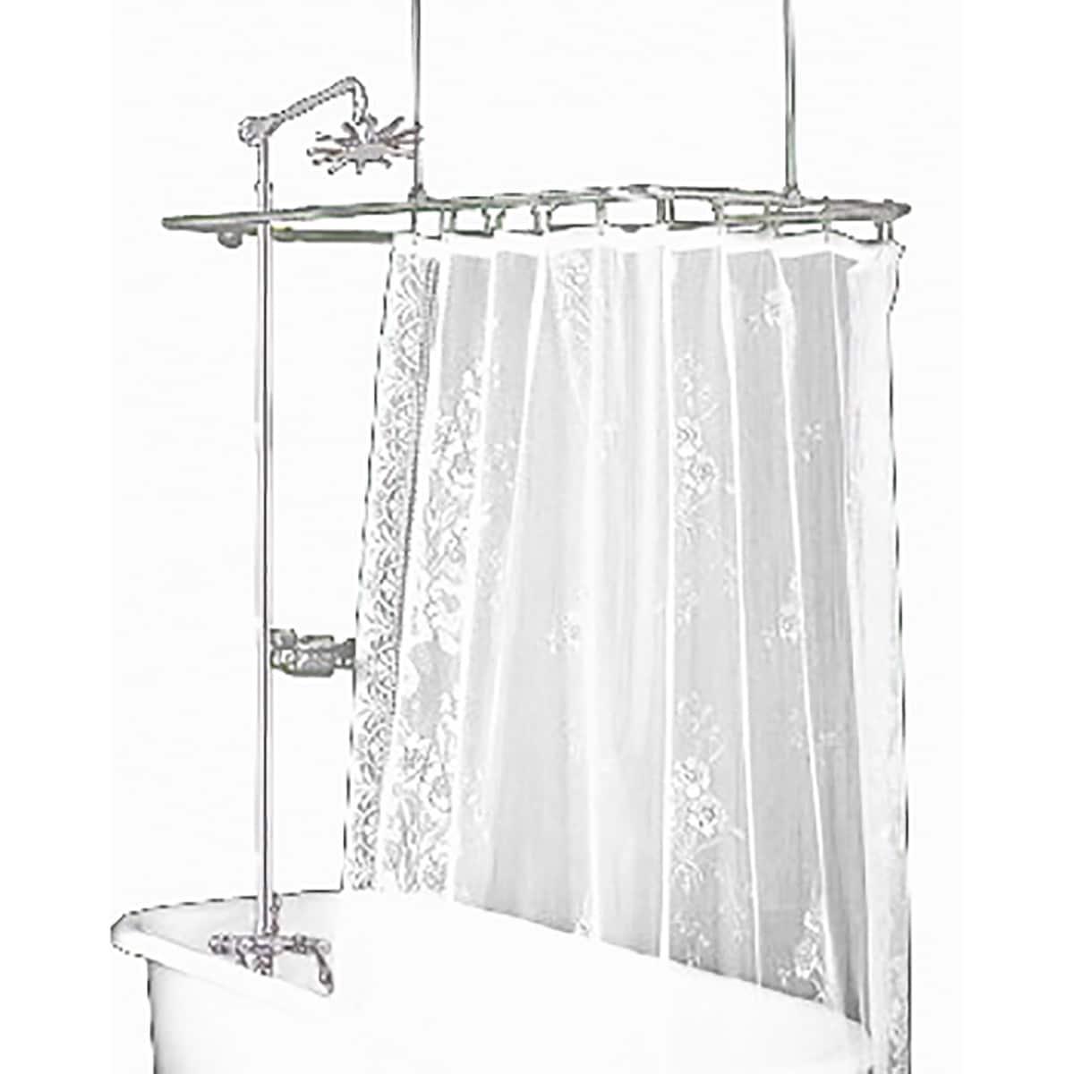 Clawfoot Tub Shower Surround Brass Rectangula | Renovator\'s Supply ...