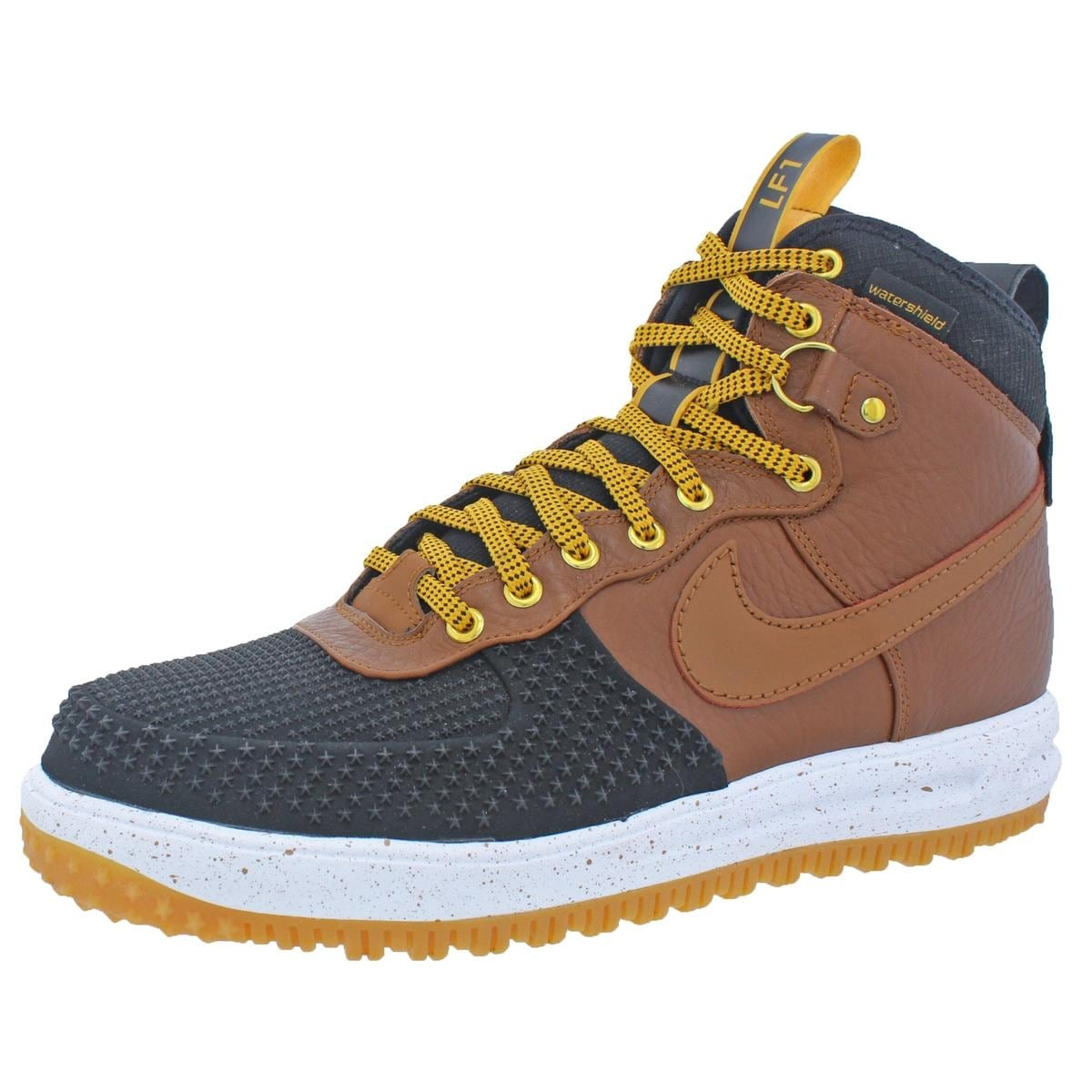 d231eb849c219 Shop Nike Mens Lunar Force 1 Duckboot Fashion Sneakers Watershield High-Top  - Free Shipping Today - Overstock - 21846705
