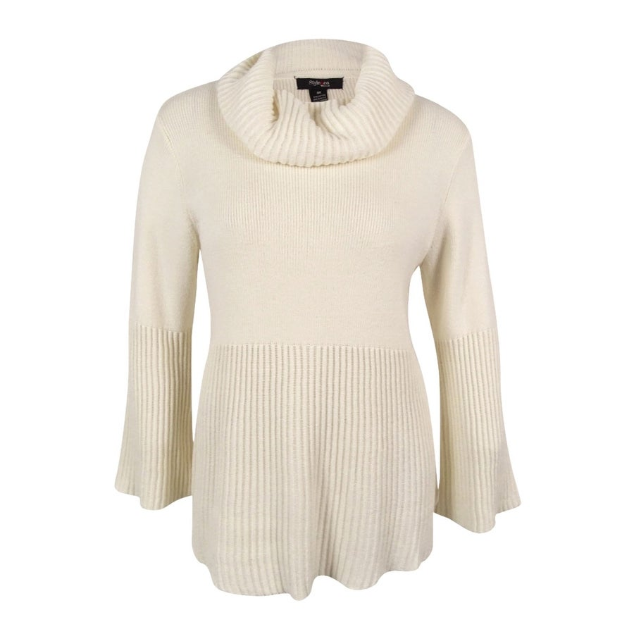 9d42abfd5c4 Shop Style   Co. Women s Cowl-Neck Bell-Sleeve Babydoll Sweater - On Sale -  Free Shipping On Orders Over  45 - Overstock - 17019194