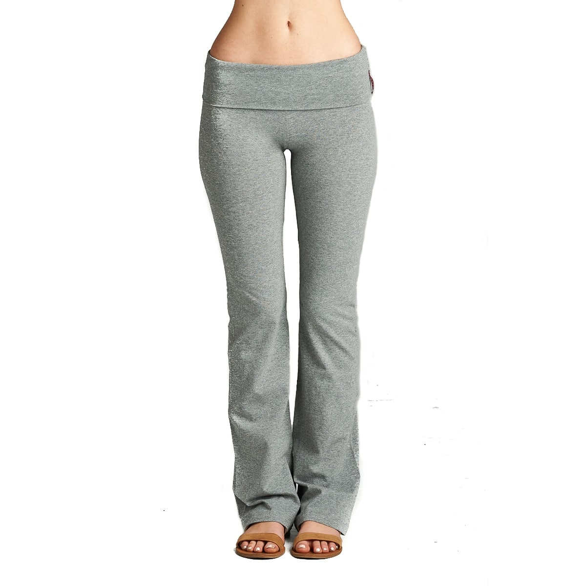 b35797f698e02 Shop Simply Ravishing Yoga Pants Cotton Fold Over Waist Boot Cut (Size:  S-3X) - Free Shipping On Orders Over $45 - Overstock - 13751682